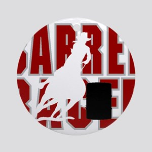 BARREL RACER [maroon] Ornament (Round)